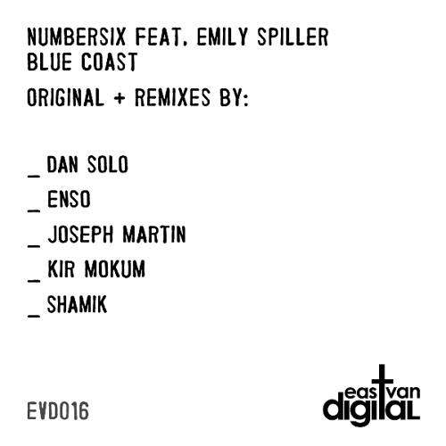 EVD016 - Numbersix Feat. Emily Spiller - Blue Coast + Remixes