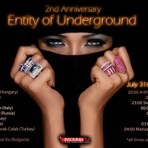 Arthur Sense - Entity of Underground 2nd Anniversary [July 2013] on Insomniafm.com