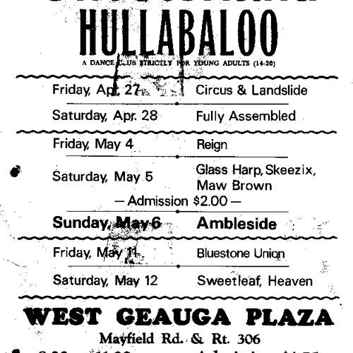 James Gang - Chesterland Hullabaloo May 1967 - Fire
