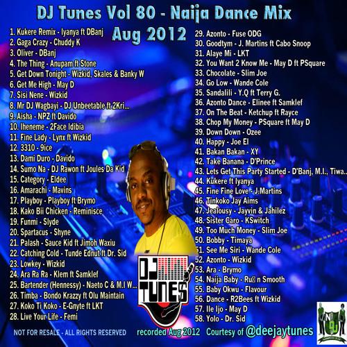 "Vol 80 @deejaytunes ""The Kukere"" Naija Mix Aug 2012"
