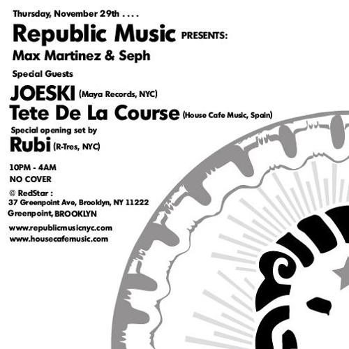 Tête de la Course - Live Set @ RedStar, New York City_320Kbps