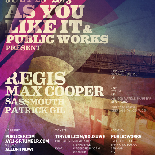 Sassmouth at AYLI w/ Regis & Max Cooper 07.26.13