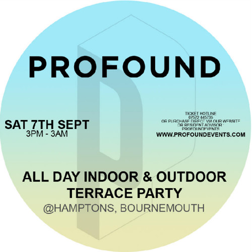 Adam Cotier    Profound Promo Mix    (Terrace)    Click Arrow To Download!