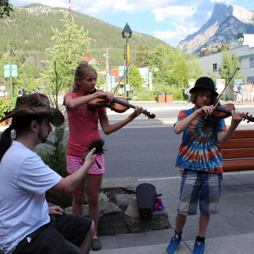 Pachelbel's Canon played by siblings in Banff, Canada.