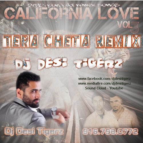 Dj Desi Tigerz - Tera Cheta Heavy Bass Mix - california love vol 3