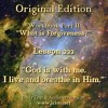 """ACIM LESSON 222 AUDIO  """"God is with me. I live and breathe in Him."""" ♫ ♪ ♫"""
