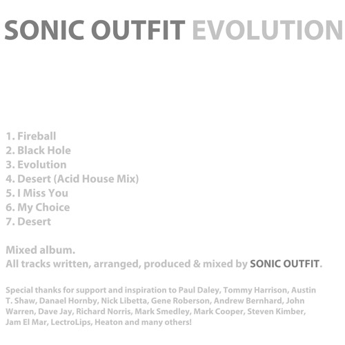 Sonic Outfit 'Evolution' (Mixed Album)