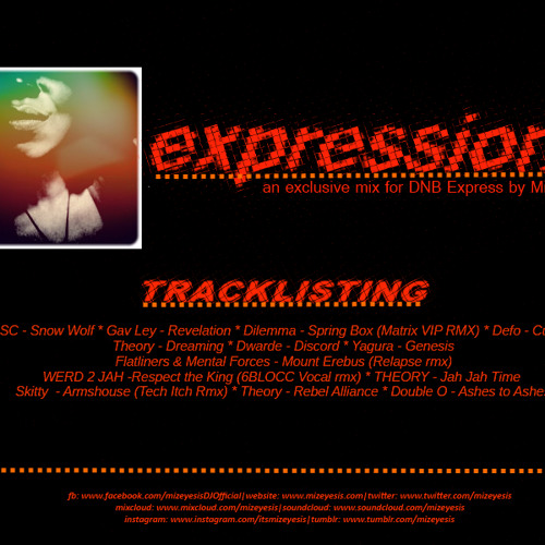 Mizeyesis - Expressions - EXCLUSIVE Mix For Drum and Bass Express