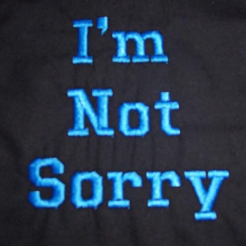 I Won't Say(I'm Sorry)
