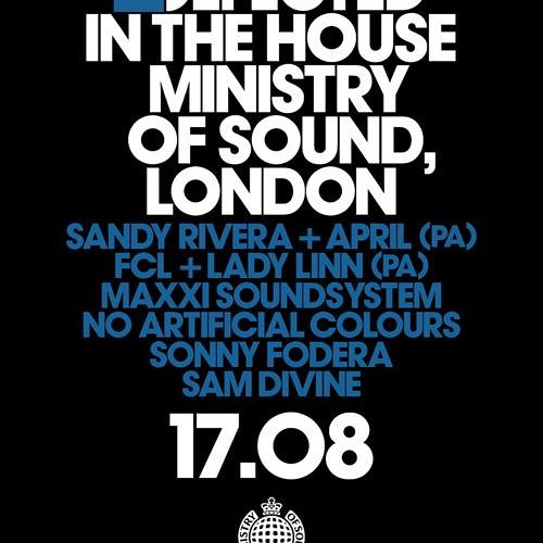 Sam Divine - Taster for Defected In The House at Ministry Of Sound 17th Aug 13