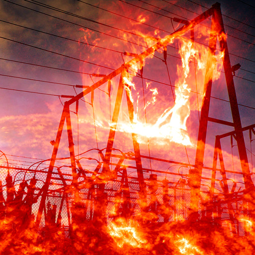 The solar flare hit, and the power lines sang out