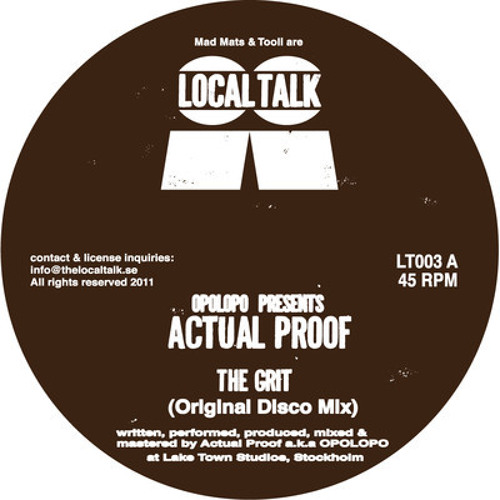 OPOLOPO presents Actual Proof - The Grit