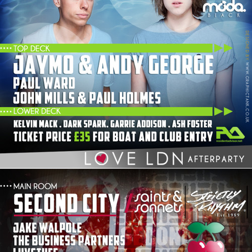 Paul Ward Love LDN Boat Party Mix August 2013