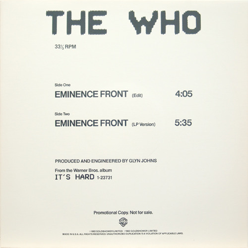 THE WHO---Eminence Front(((C•Parker rework)))