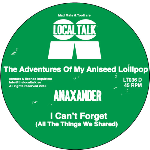 Anaxander - I Can't Forget (All The Things We Shared) (LT36, Digital Bonus) (Snippet)