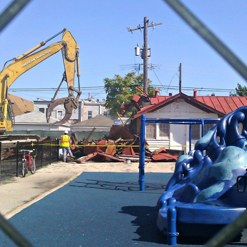 CPS demolishes symbolic Whittier Elementary School field house