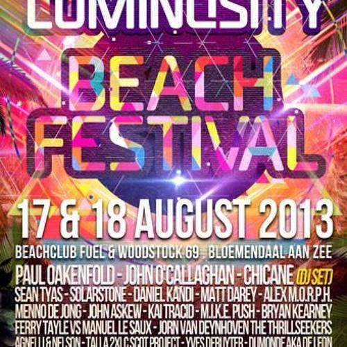 Sneijder LIVE @ Luminosity Beach Festival 2013