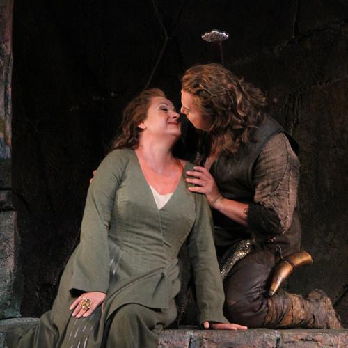 Seattle Opera RING: Mellor as Brünnhilde, Vinke as Siegfried