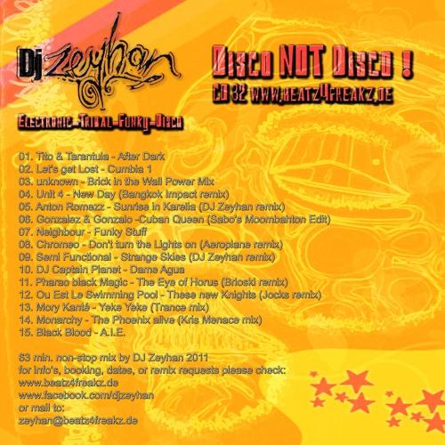 NEW re-upp! - DJ Zeyhan - Disco not Disco! - CD - 32