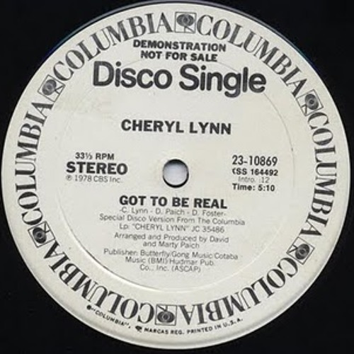 Cheryl Lynn - Got To Be Real [Get Down Edits Quick Fix] Free Wav Download