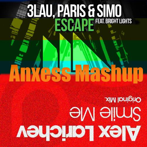 Alex Larichev vs. Paris & Simo, 3LAU feat. Bright Lights - Escape Me (Anxess Mashup)