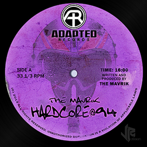 The Mavrik-Hardcore@94-Out Now On Adapted Records
