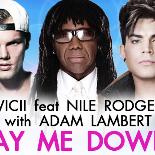 HD - Lay Me Down - Avicii feat. Nile Rodgers with Adam Lambert (AFTEE 08/19/2013 )