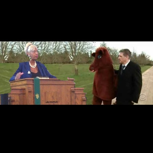 Doris Brown can talk to a horse of course...