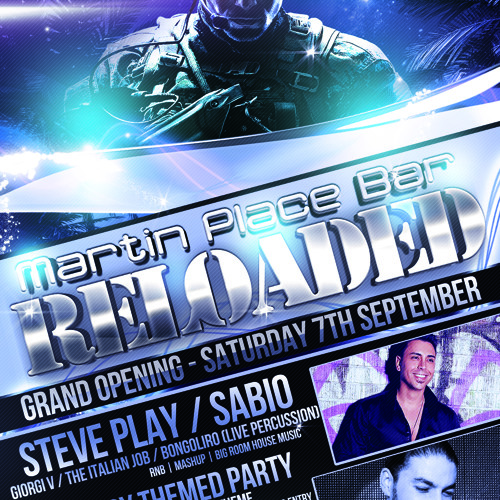 MPB RELOADED - GRAND OPENING - SAT 7TH SEP - MILITARY THEME PARTY