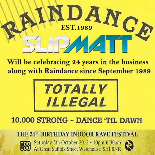 Slipmatt - My 24 Years With Raindance Warm Up Mix-September 2013