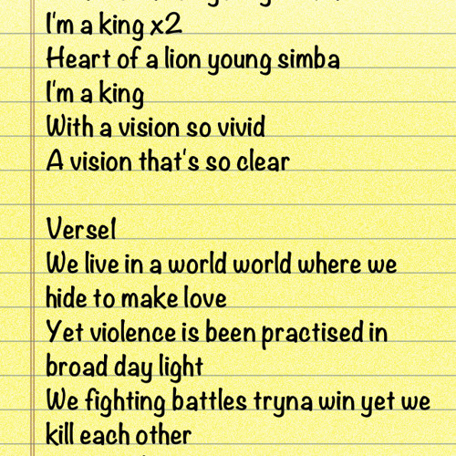 YOUNG SIMBA- WRITTEN & PRODUCED BY QUAN