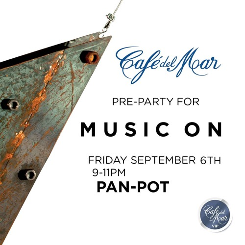 "Pan-Pot ""Music On"" warm-up at Cafe del Mar IBIZA 2013"