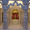 Inside the mandir at Neasden Temple
