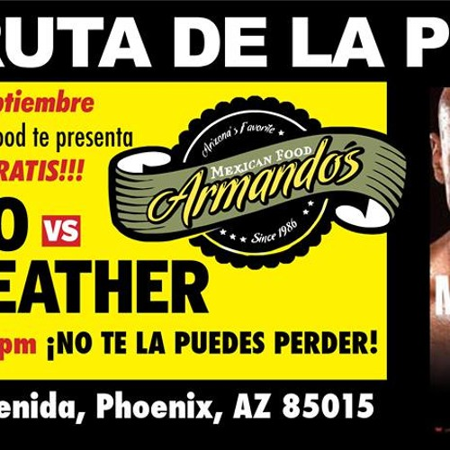 La pelea del año en Armando's taco shop: Canelo vs Mayweather.