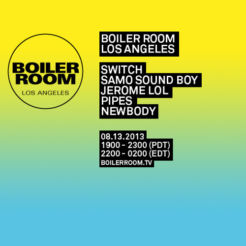 Samo Sound Boy 50 min Boiler Room Mix