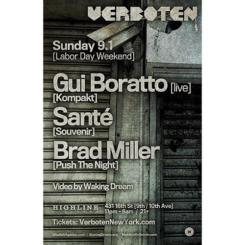Brad Miller - Opening for Gui Boratto / Highline Ballroom / 9.1.13