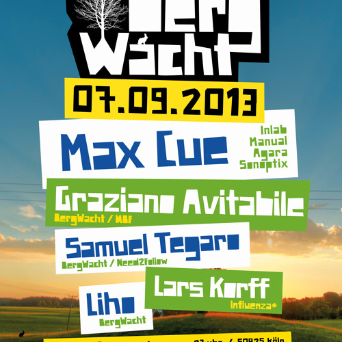 Max Cue @ BergWacht Artheater Cologne 07.09.13