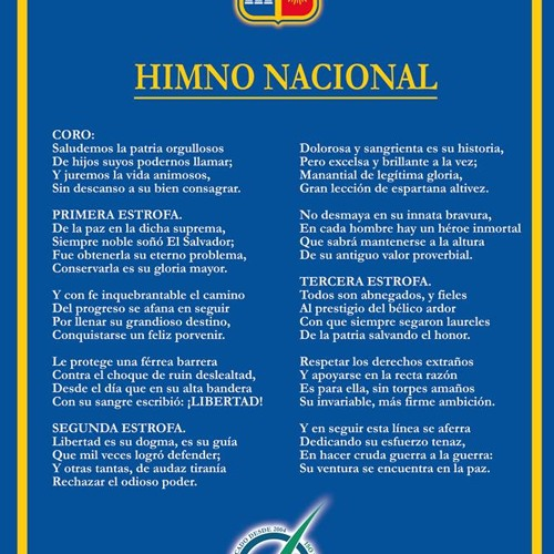 Letra himno de el salvador pictures to pin on pinterest for Al jardin de la republica letra