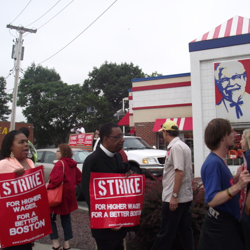 Boston Fast Food Workers Demand Higher Wages, Union in Nationwide Demonstration