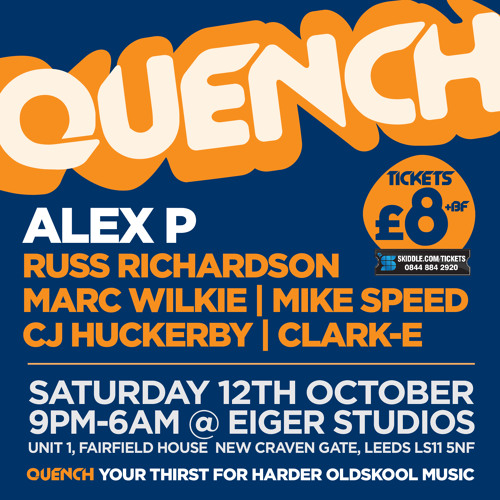 Quench (Oct 12th 2013) Promo Mix - Marc Wilkie