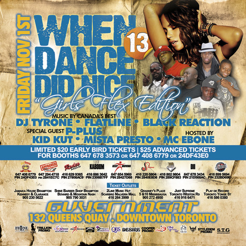 When Dance Did Nice 13 Mix CD [Nov 1 @ Guvernment #Toronto]