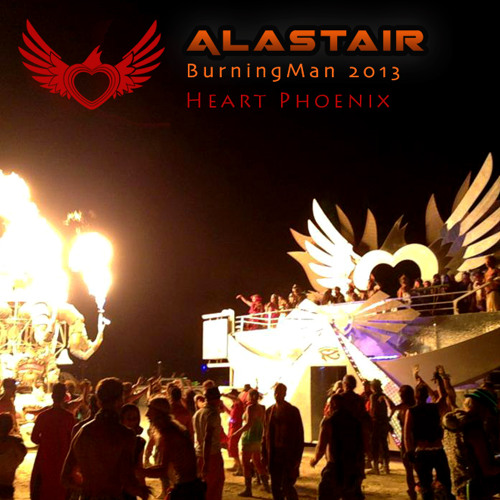 Alastair @ Burning Man 2013 - Heart Phoenix