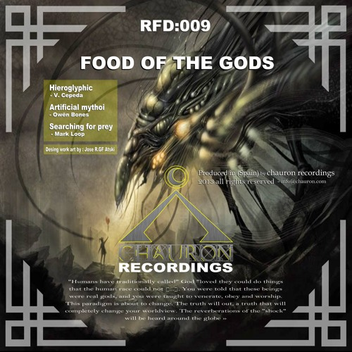 V.Cepeda - Hieroglyphic (Original mix) Food of the gods ep RFD009 Chauron Recordings