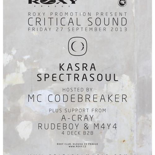 A-Cray - CRITICAL SOUND @ ROXY PROMO MIX (27/9/2013)