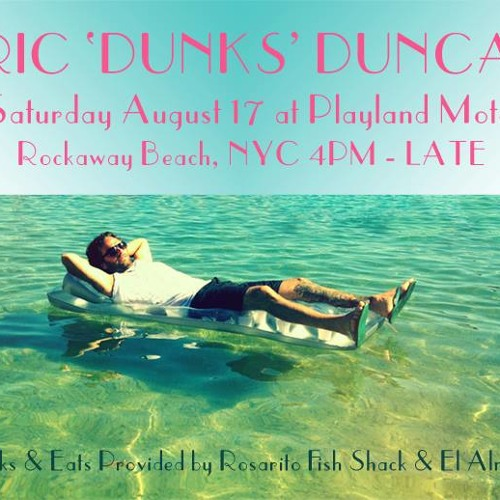 ERIC 'DUNKS' DUNCAN AT PLAYLAND MOTEL AUG. 17th 2013 JUST BEFORE SUNSET