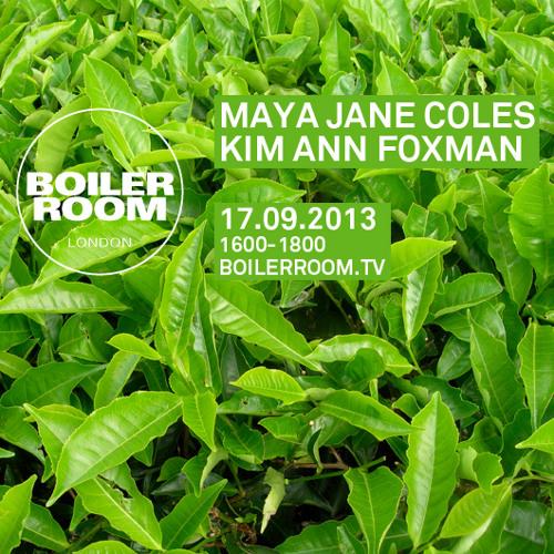 Kim Ann Foxman - Live @ Boiler Room (London) - 2013-09-17