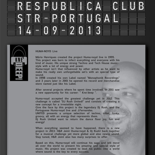 18º Anniversary of Huma-noyd Live @ ResPública _ Portugal _ 14.09.2013