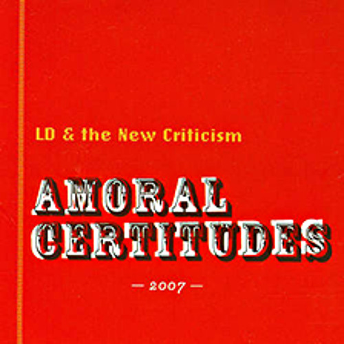 """""""What You Will"""" by LD & the New Criticism (featuring Dana Kletter)"""