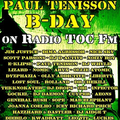 Paul Tenisson B-Day Party TOC Fm Hardtechno Mix @DJAidgeT 2013