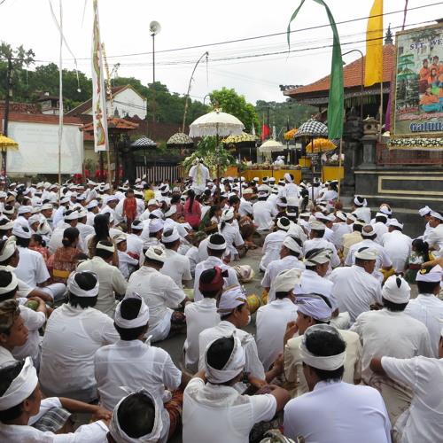 Kuningan festival in Padang Bai, Bali. Excerpt 1.